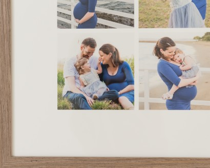 Wall art, newborn photography, wood frames, print newborn photos, newborn photo ideas, newborn photo frames, Brisbane newborn photography, collage frame