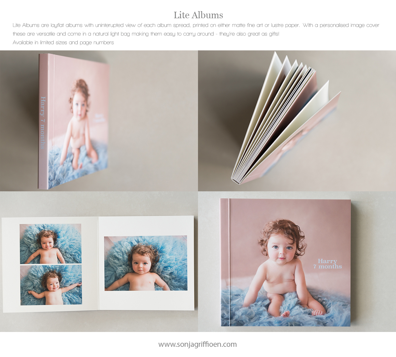 Newborn albums, printed photography, professional newborn photography Brisbane, Brisbane newborn photographer Sonja Griffioen